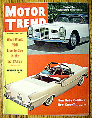 Motor Trend Magazine September 1956 1957 Cars