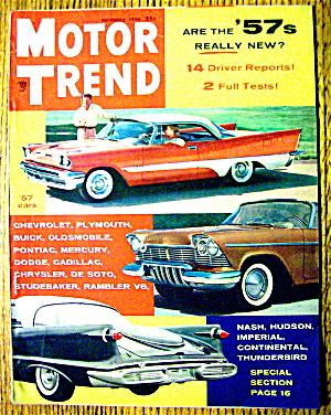 Motor Trend Magazine December 1956 1957 Cars Automobile