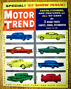 Motor Trend Magazine January 1957 '57 Show Issue