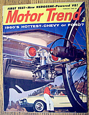 Motor Trend Magazine February 1960 Chevy Or Ford