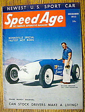Speed Age Magazine December 1953 Frank Mundy Answers