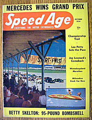 Speed Age October 1954 Betty Skelton:95 Pound Bombshell