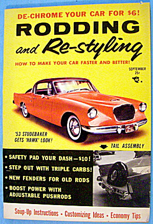 Rodding And Re-styling September 1956 '53 Studebaker