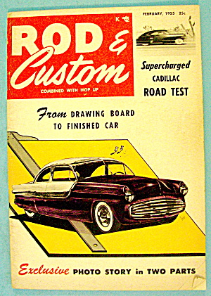 Rod & Custom February 1955 Supercharged Cadillac