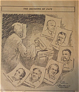 Political Cartoon - April 1945 Death Thrusts Truman (Image1)