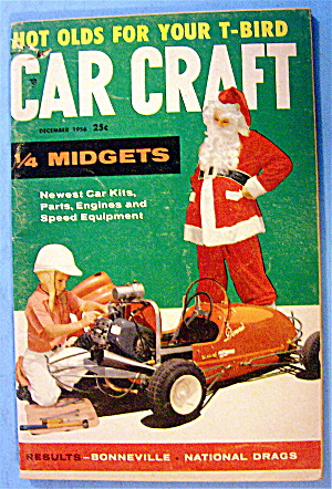 Car Craft December 1956 1/4 Midgets