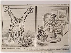 Political Cartoon - April 1, 1946 Clothing Shortage (Image1)