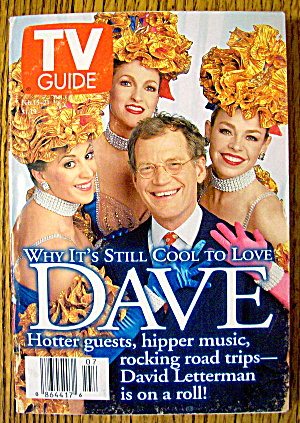 Tv Guide February 15-21, 1997 David Letterman