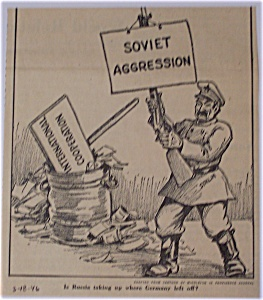 Political Cartoon - March 25, 1946 Stalin's Aggression