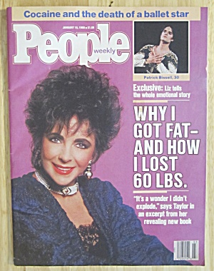 People Magazine January 18, 1988 Elizabeth Taylor