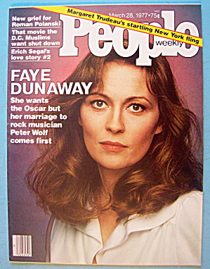 People Magazine March 28, 1977 Faye Dunaway