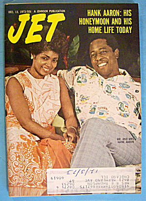 Jet Magazine December 13, 1973 Hank Aaron: Honeymoon