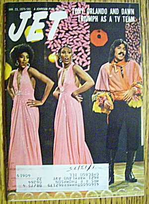 Jet Magazine January 23, 1975 Tony Orlando & Dawn