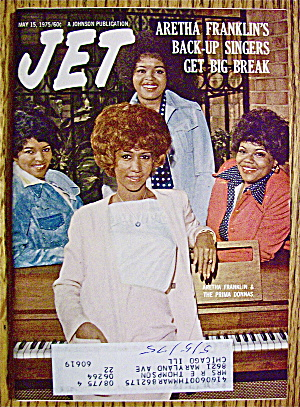 Jet Magazine May 15, 1975 Aretha Franklin's Back Up