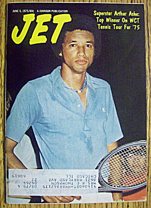 Jet Magazine June 5, 1975 Superstar: Arthur Ashe