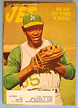Jet Magazine July 15, 1971 Best Pitcher: Vida Blue