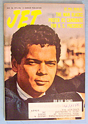 Jet Magazine August 26, 1971 Julian Bond
