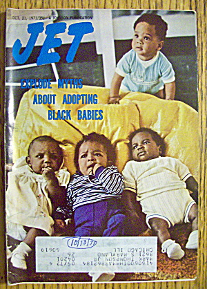 Jet Magazine October 21, 1971 Adopting Black Babies
