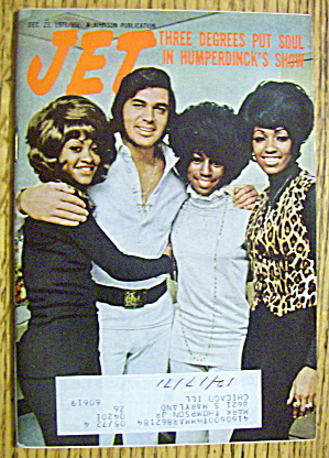 Jet Magazine December 23, 1971 Humperdinck & 3 Degrees