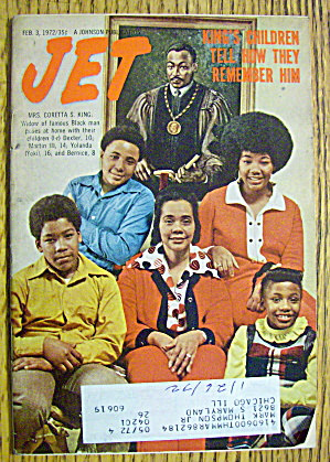 Jet Magazine February 3, 1972 King's Children