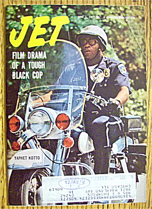 Jet Magazine June 1, 1972 Yaphet Kotto -tough Black Cop