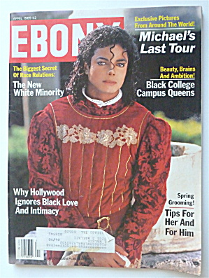 Ebony Magazine-april 1989-michael's Last Tour