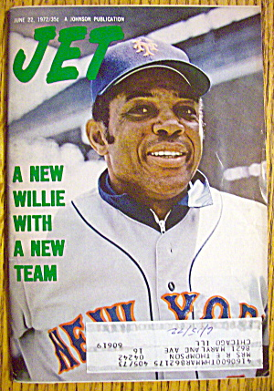 Jet Magazine June 22, 1972 Baseball's Willie Mays