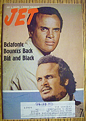 Jet Magazine July 6, 1972 Harry Belafonte