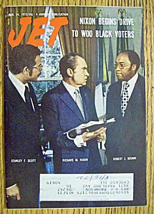 Jet Magazine August 24, 1972 Nixon Begins To Woo Voters