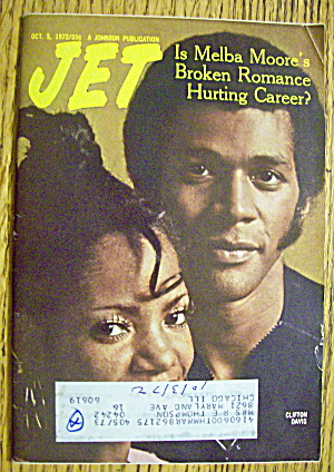 Jet Magazine October 5, 1972 Melba Moore/clifton Davis