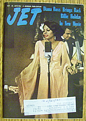 Jet Magazine October 19, 1972 Diana Ross As B. Holiday
