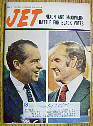 Jet Magazine November 2, 1972 Nixon & Mcgovern