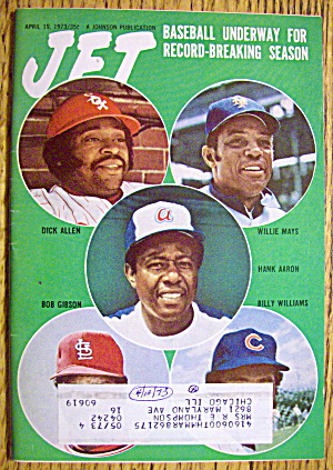Jet Magazine April 19, 1973 Baseball Underway