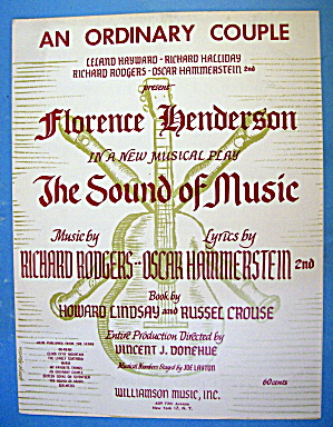 Sheet Music For 1959 An Ordinary Couple By Rodgers