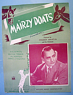 Sheet Music For 1943 Mairzy Doats By Milton Drake