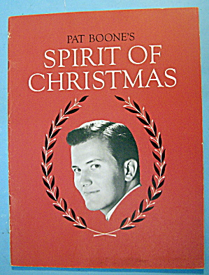 Sheet Music For 1959 Pat Boone's Spirit Of Christmas