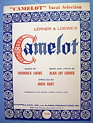 Sheet Music For 1960 Camelot By Loewe & Lerner (Image1)