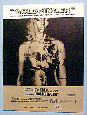 Sheet Music For 1964 Goldfinger By John Barry