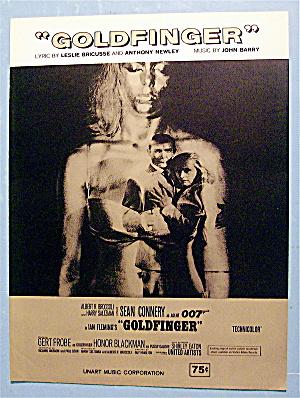 Sheet Music For 1964 Goldfinger By John Barry (Image1)