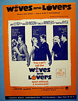 Sheet Music For 1963 Wives And Lovers By B. Bacharach