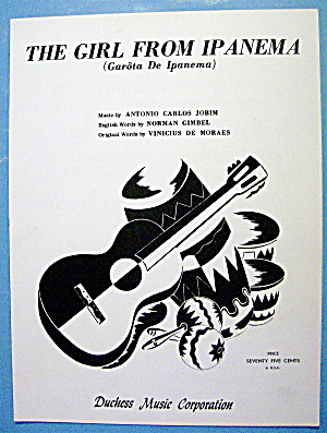 Sheet Music For 1963 The Girl From Ipanema By Jobim