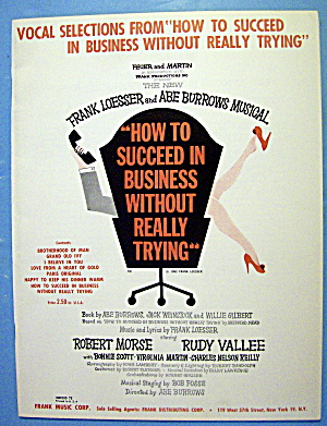 Sheet Music For 1961 How To Succeed In Business