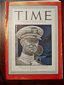 Time Magazine - November 24, 1941 - Admiral Hart Cover