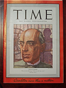 Time Magazine - August 24, 1942 - Nehru cover (Image1)