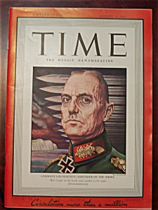 Time Magazine - August 31, 1942 - Rundstedt Cover (Image1)