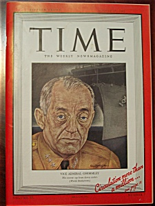 Time Magazine - August 17, 1942 - Ghormley Cover