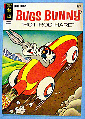 Bugs Bunny Comic #107 September 1966 Hot Rod Hare