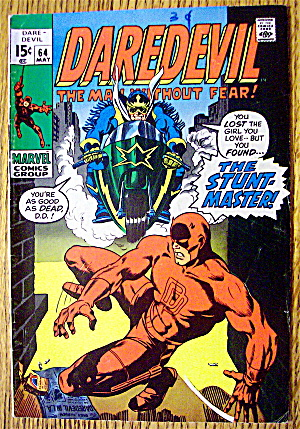 Marvel Comics Group DareDevil Comic #64 May 1970 (Image1)
