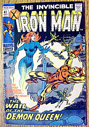 Iron Man Comic #42 October 1971 When Demons Wail (Image1)