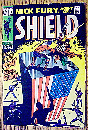 Nick Fury Agent Of Shield Comic #13 July 1969 Patriot (Image1)